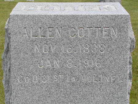 COTTEN, ALLEN - Black Hawk County, Iowa | ALLEN COTTEN