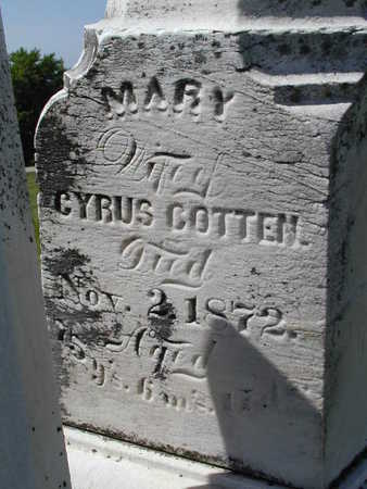 COTTEN, MARY - Black Hawk County, Iowa | MARY COTTEN