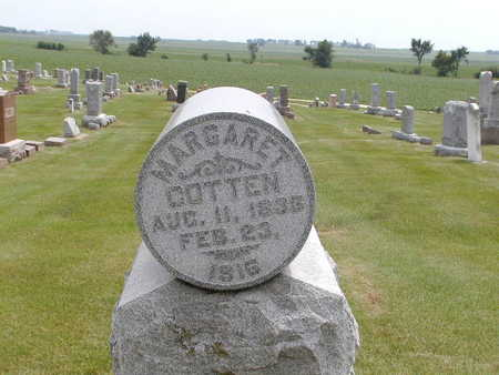 COTTEN, MARGARET - Black Hawk County, Iowa | MARGARET COTTEN