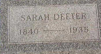 DEETER, SARAH - Black Hawk County, Iowa | SARAH DEETER