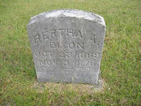 DIXON, BERTHA A - Black Hawk County, Iowa | BERTHA A DIXON