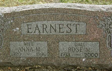 EARNEST, ANNA M. - Black Hawk County, Iowa | ANNA M. EARNEST