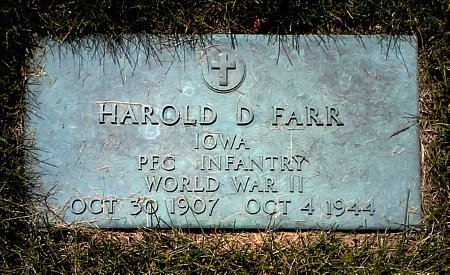 FARR, HAROLD D. - Black Hawk County, Iowa | HAROLD D. FARR