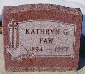 FAW, KATHRYN - Black Hawk County, Iowa | KATHRYN FAW