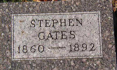 GATES, STEPHEN - Black Hawk County, Iowa | STEPHEN GATES