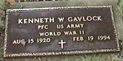 GAVLOCK, KENNETH W. - Black Hawk County, Iowa | KENNETH W. GAVLOCK