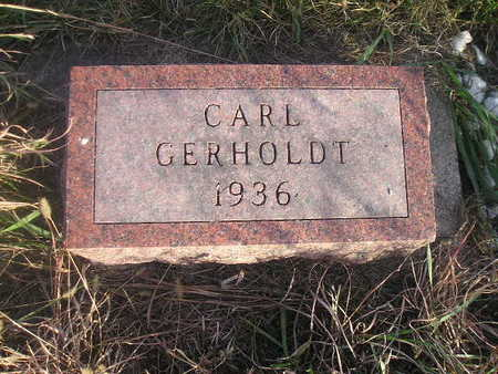 GERHOLDT, CARL - Black Hawk County, Iowa | CARL GERHOLDT