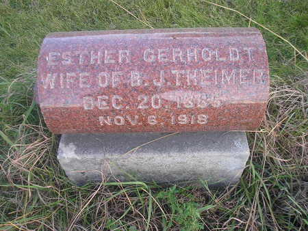 GERHOLDT, ESTHER - Black Hawk County, Iowa | ESTHER GERHOLDT