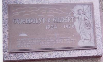 GILBERT, GWENDOLYN R. - Black Hawk County, Iowa   GWENDOLYN R. GILBERT