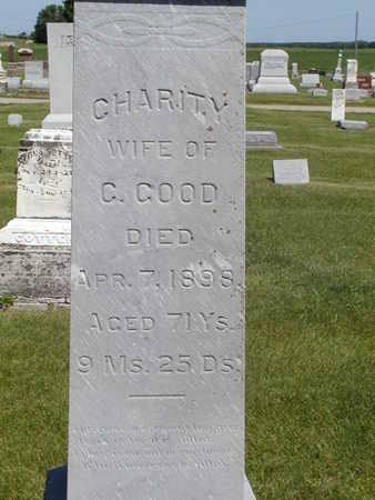 GOOD, CHARITY - Black Hawk County, Iowa   CHARITY GOOD