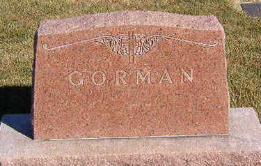 GORMAN, FAMILY STONE - Black Hawk County, Iowa | FAMILY STONE GORMAN