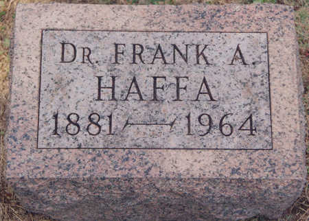 HAFFA, DR. FRANKLIN ARTHUR - Black Hawk County, Iowa | DR. FRANKLIN ARTHUR HAFFA