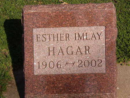HAGER, ESTHER IMLAY - Black Hawk County, Iowa | ESTHER IMLAY HAGER