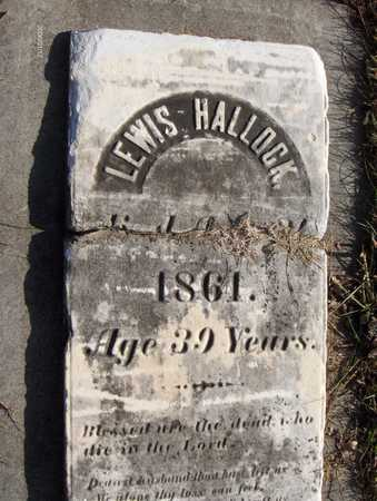 HALLOCK, LEWIS - Black Hawk County, Iowa | LEWIS HALLOCK