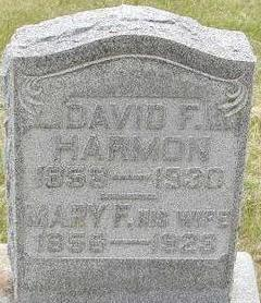 HARMON, DAVID F. - Black Hawk County, Iowa | DAVID F. HARMON