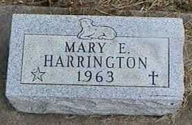 HARRINGTON, MARY E. - Black Hawk County, Iowa | MARY E. HARRINGTON