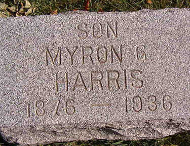 HARRIS, MYRON G. - Black Hawk County, Iowa | MYRON G. HARRIS