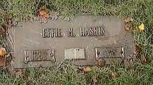 HASKIN, EFFIE M. - Black Hawk County, Iowa | EFFIE M. HASKIN