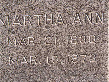 HEISZ, MARTHA ANN - Black Hawk County, Iowa | MARTHA ANN HEISZ