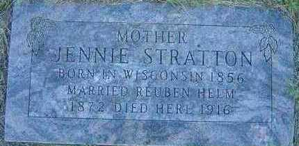 STRATTON HELM, JENNIE - Black Hawk County, Iowa | JENNIE STRATTON HELM