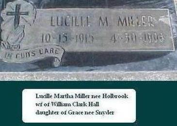 MILLER HOLBROOK, LUCILLE M. - Black Hawk County, Iowa | LUCILLE M. MILLER HOLBROOK