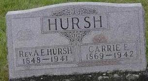 HURSH, REV. A.E. - Black Hawk County, Iowa | REV. A.E. HURSH