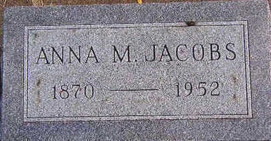 JACOBS, ANNA M. - Black Hawk County, Iowa | ANNA M. JACOBS
