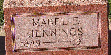 JENNINGS, MABEL E. - Black Hawk County, Iowa | MABEL E. JENNINGS