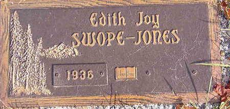 JONES, EDITH JOY SWOPE - Black Hawk County, Iowa | EDITH JOY SWOPE JONES