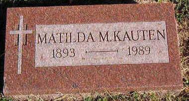 KAUTEN, MATILDA M. - Black Hawk County, Iowa | MATILDA M. KAUTEN