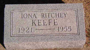 KEEFE, IONA RITCHEY - Black Hawk County, Iowa | IONA RITCHEY KEEFE