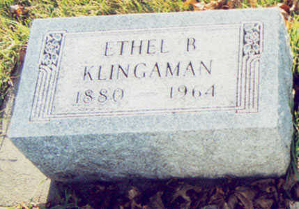 KLINGAMAN, ETHEL L. - Black Hawk County, Iowa | ETHEL L. KLINGAMAN