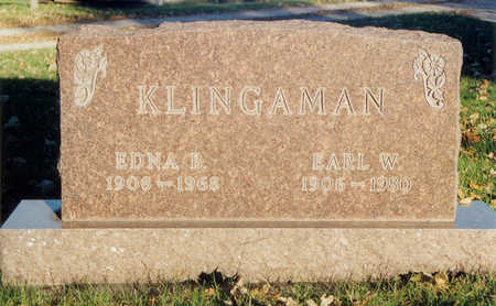 HOLLIS KLINGAMAN, EDNA BELLE - Black Hawk County, Iowa | EDNA BELLE HOLLIS KLINGAMAN