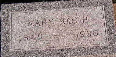 KOCH, MARY - Black Hawk County, Iowa | MARY KOCH