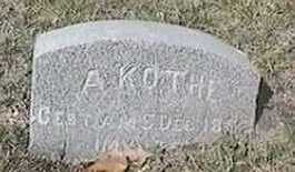 KOTHE, A. - Black Hawk County, Iowa | A. KOTHE