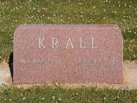 KRALL, STANLEY F. - Black Hawk County, Iowa | STANLEY F. KRALL