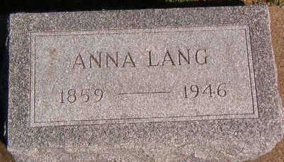LANG, ANNA - Black Hawk County, Iowa | ANNA LANG