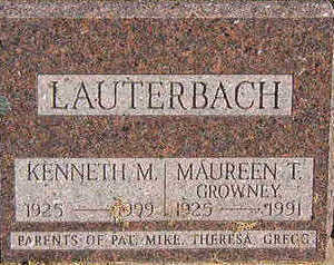 LAUTERBACH, KENNETH M. - Black Hawk County, Iowa | KENNETH M. LAUTERBACH