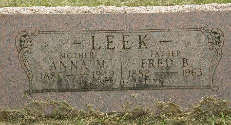 LEEK, FRED B. - Black Hawk County, Iowa | FRED B. LEEK