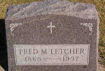 LETCHER, FRED M. - Black Hawk County, Iowa | FRED M. LETCHER