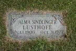 LUSTHOFF, ALMA SINDLINGER - Black Hawk County, Iowa | ALMA SINDLINGER LUSTHOFF