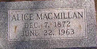 MACMILLAN, ALICE - Black Hawk County, Iowa   ALICE MACMILLAN