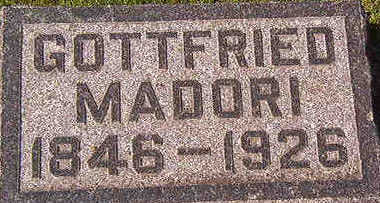 MADORI, GOTTFRIED - Black Hawk County, Iowa | GOTTFRIED MADORI