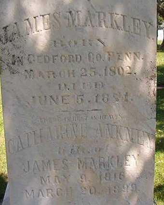 MARKLEY, JAMES - Black Hawk County, Iowa   JAMES MARKLEY