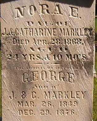 MARKLEY, NORA E. - Black Hawk County, Iowa | NORA E. MARKLEY