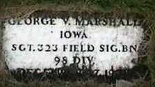 MARSHALL, GEORGE V. - Black Hawk County, Iowa | GEORGE V. MARSHALL