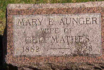 AUNGER MATHES, MARY E. - Black Hawk County, Iowa | MARY E. AUNGER MATHES