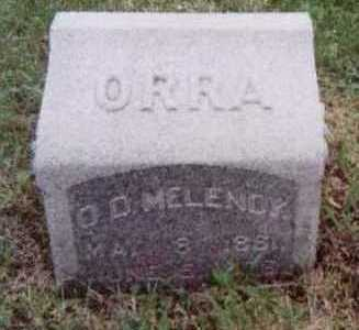 MELENDY, ORRA D. - Black Hawk County, Iowa | ORRA D. MELENDY
