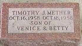 METHER, TIMOTHY J. - Black Hawk County, Iowa   TIMOTHY J. METHER