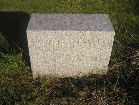MILLER, MATTHIAS - Black Hawk County, Iowa | MATTHIAS MILLER
